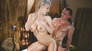 MassageRoom - Sensual Slick Sex With Busty Blonde Nathaly Cherie