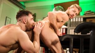 Men - Jonas Jackson Gets Lips Wrapped Around Gabriel's Phoenix Long Hard Cock