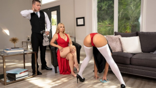Babes - Sarah Vandella Has Kendra Spade And Guy Around To Do Her Basic Services
