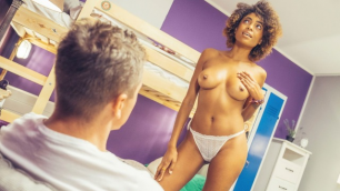 Luna Corazon Starts To Strip For Guy