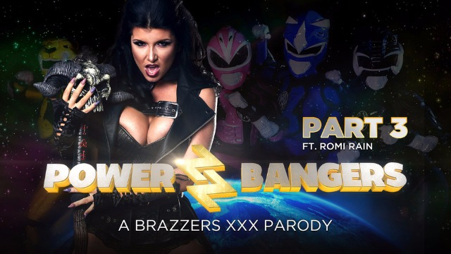 Brazzers - Power Bangers A XXX Parody Part 3 With Powerful Romi's Rain Pussy