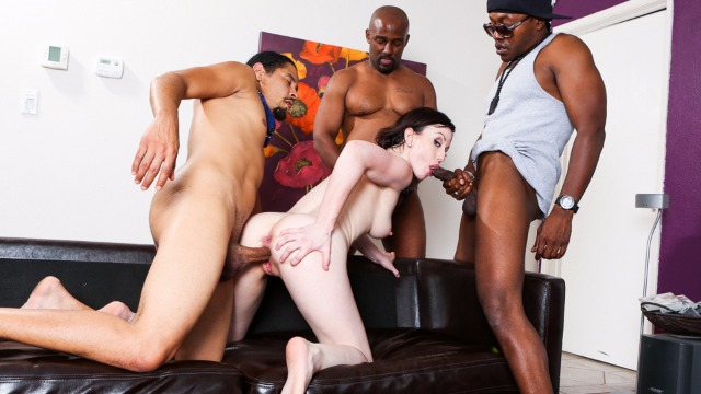Devils Film - Jennifer White Rides On The Three Ebony Cock With Cream Pie In GangLand  28