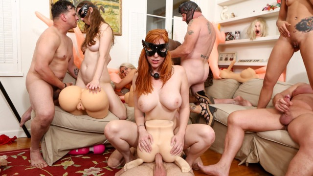 Devils Film - Layla Price And Lauren Phillips And Other Take Part On The Group Sex In Storage Whore Orgy