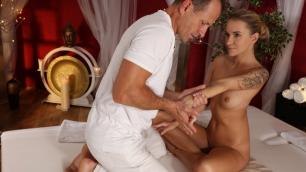 Massagerooms - Sexy Eyelashes Excited Masseur Angel Piaff