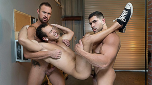 Whores Damien Stone, Leon Lewis And Michael Roman From Alley Part 4