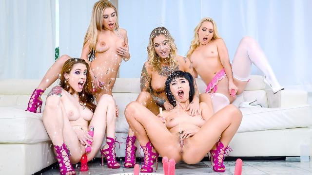 DigitalPlayground - Five Lesbian Squirt Bang Part 1