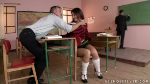 21Sextury - Nena Fucks With Her Teacher And Student In Double Anal Lessons
