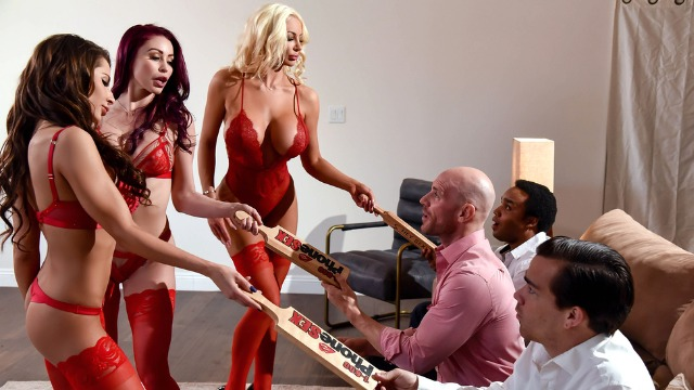 Madison Ivy, Monique Alexander And Nicolette Shea Always Happy To Meet His Client In 1 800 Phone Sex: Line 8