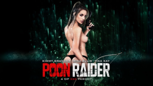 Digital Playground - Girls Kimmy Granger, Rina Ellis And Tina Kay In Poon Raider: A DP XXX Parody