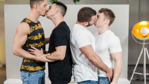 Men - Secret Affair Part 3 Four-Way Diego Reyes , Gabriel Cross , Paddy O'Brian , Skyy Knox