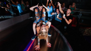Blonde Bonnie Rotten Experience At The Strip Club