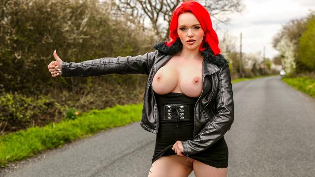 The Horny Hitchhiker Redhead Jasmine James