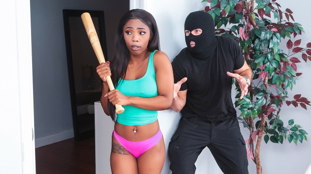 Burglar Fucks Sarah Banks After Midnight