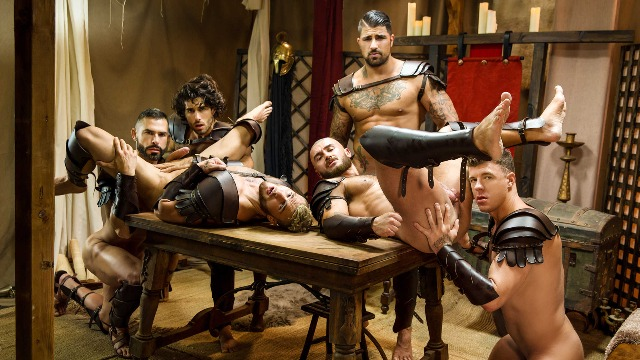 Men - Sacred Band Of Thebes Part 4 D.O., Diego Sans, Francois Sagat, JJ Knight, Ryan Bones, William Seed Fucks After Defeating